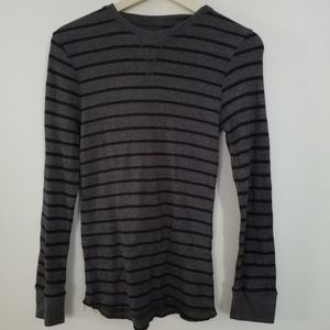 Other - Striped Long Sleeve Thermal Shirt